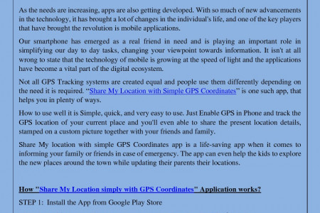 Share My Location with simple GPS Coordinates Infographic