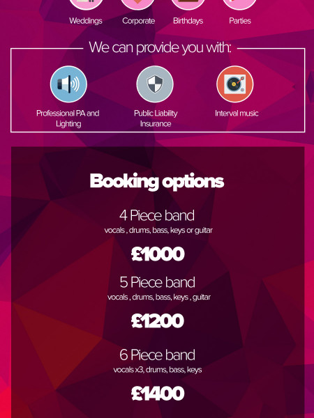 She Function Band - Premium Wedding Entertainment Supplier Infographic