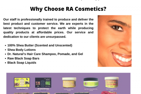 Shea Butter & Black Soap for Skin & Hair | RA Cosmetics Infographic