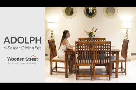 Sheesham Wood Dining Table Design | Adolph 6 Seater Dining Table Set | Wooden Street Infographic
