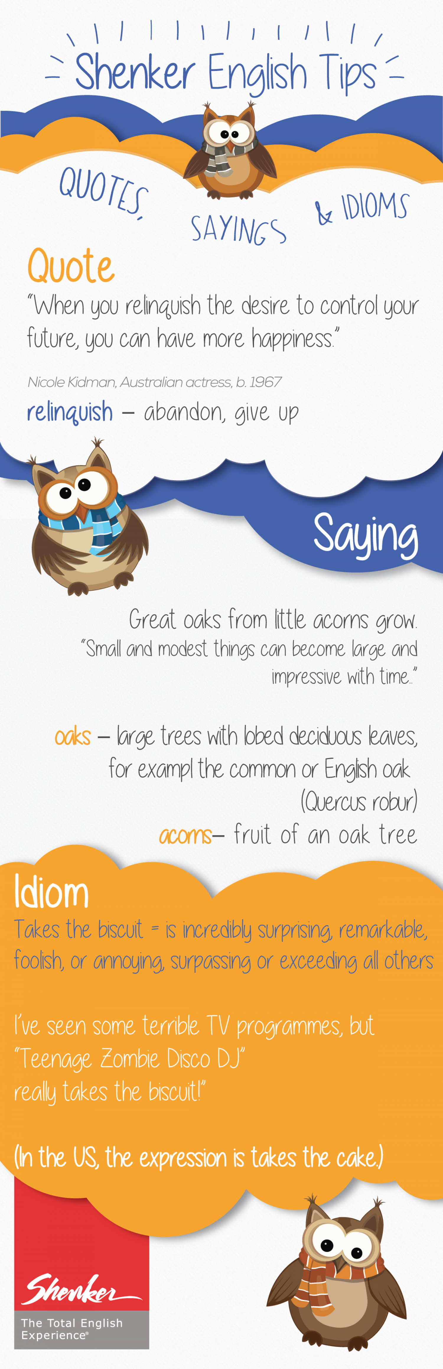 Shenker English Tips - Quotes, Sayings & Idioms /2 Infographic