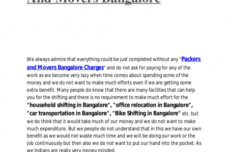 Shifting Benefits For Money Minded People From Packers And Movers Bangalore Infographic