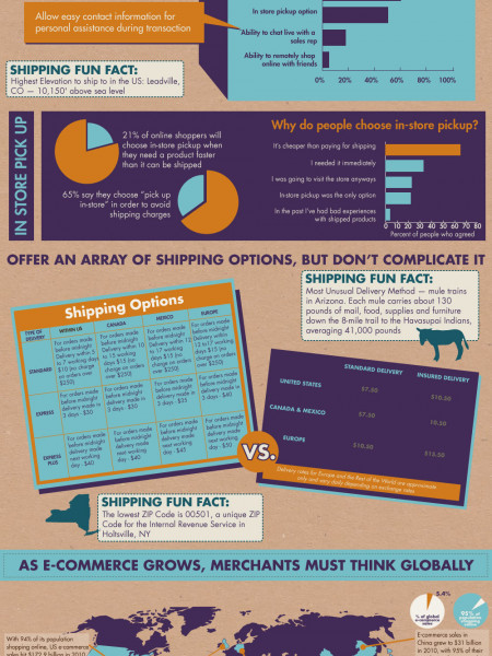 Shipping - The Holy Grail of E-commerce Infographic