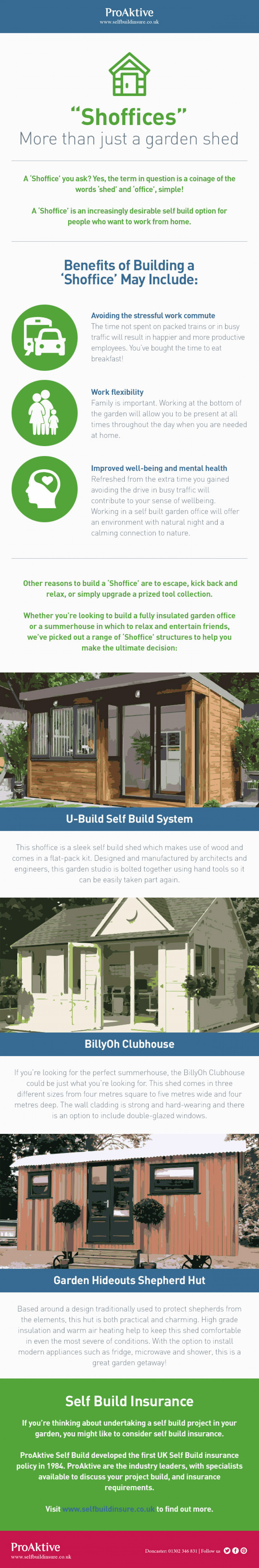 """""""Shoffices"""" More than just a garden shed Infographic"""