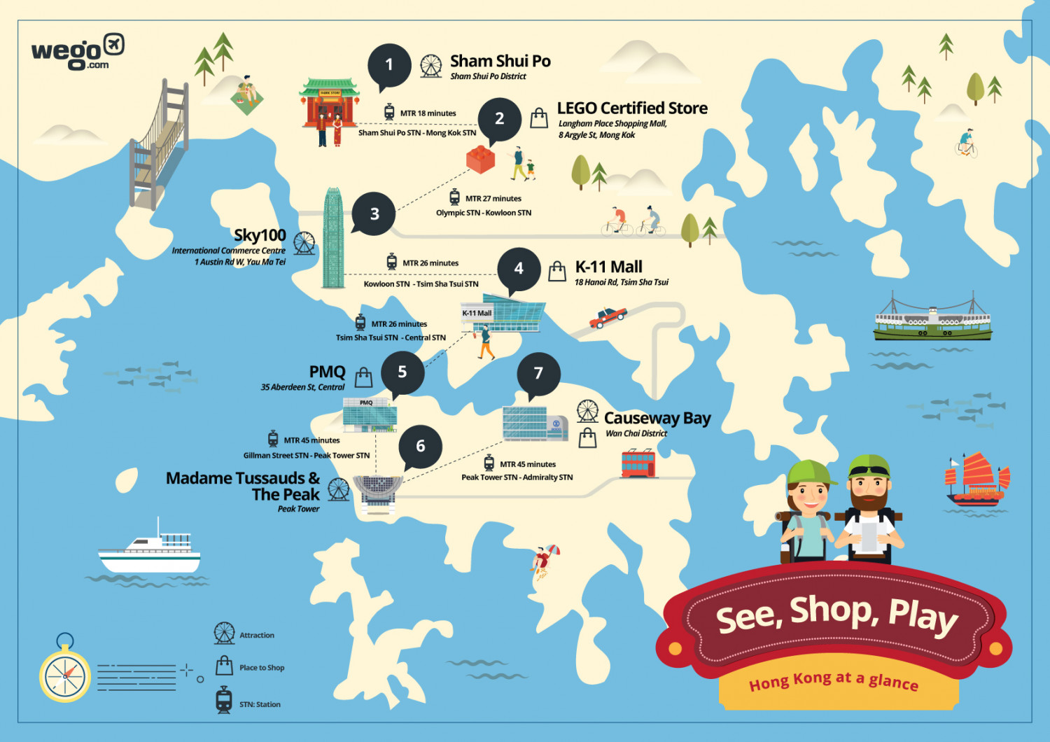 Shop and Play Map in Hong Kong Infographic