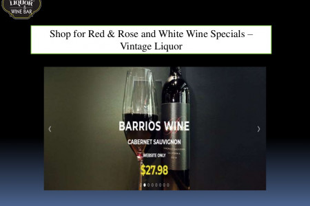 Shop for Red & Rose and White Wine Specials – Vintage Liquor Infographic