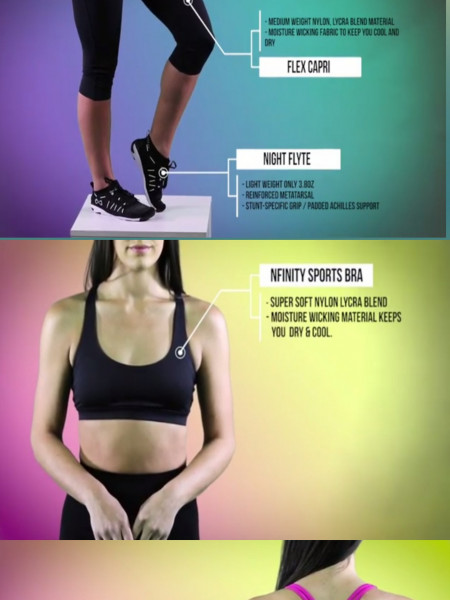 Shop Nfinity the official shoes of cheer Infographic