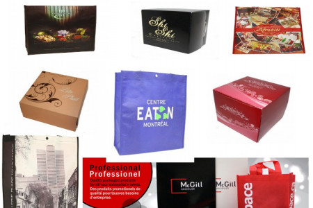 Shopping Bag, Custom Paper Box  & Reusable Paper Bag Infographic
