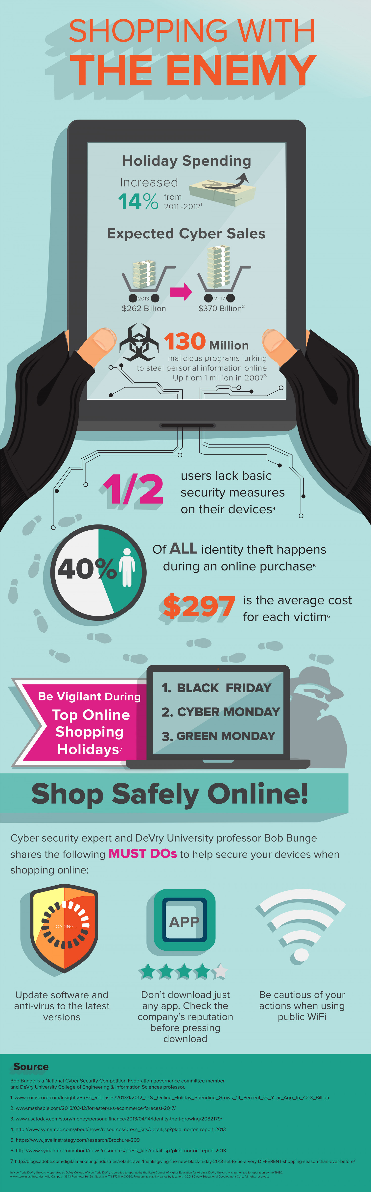 Shopping with the Enemy: Online Shopping Safety Infographic