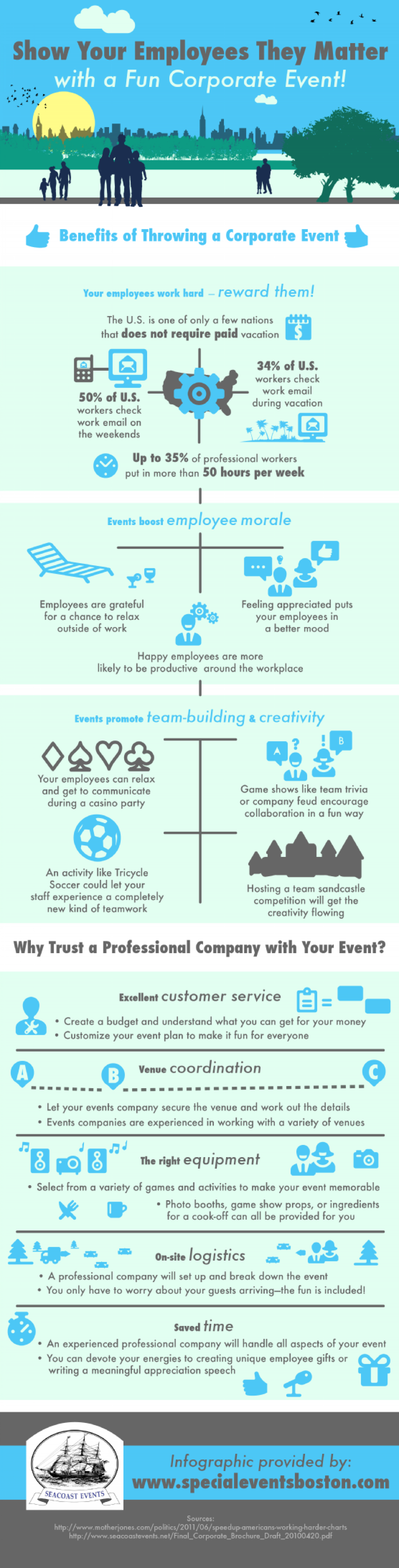 Show Your Employees They Matter with a Fun Corporate Event! Infographic