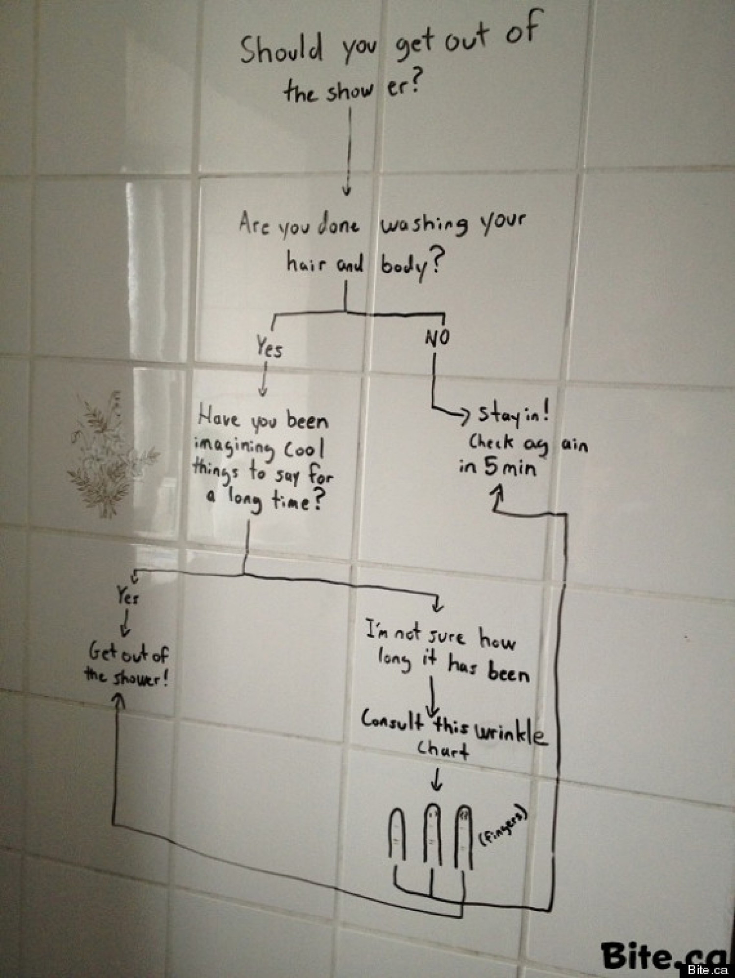 Shower Flowchart Infographic
