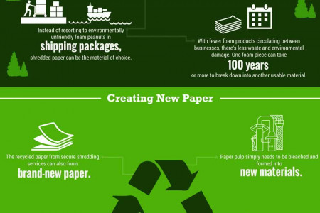 Shredding Companies and Saving the Environment. Infographic