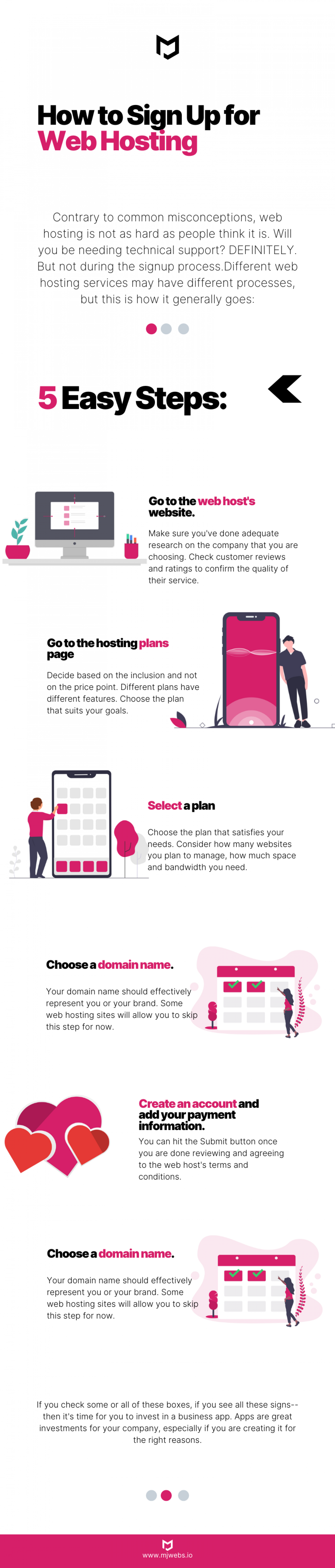 Signing Up for a Web Hosting is EASY! Infographic
