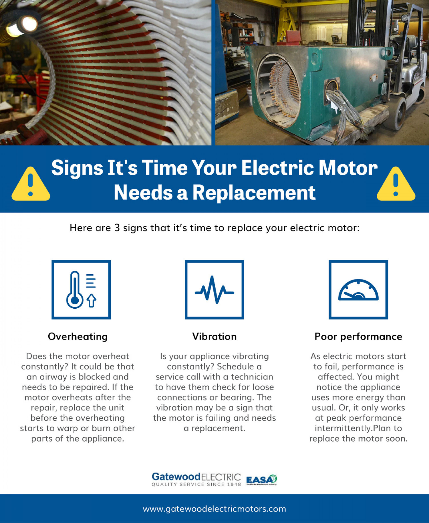 Signs It's Time Your Electric Motor Needs a Replacement Infographic