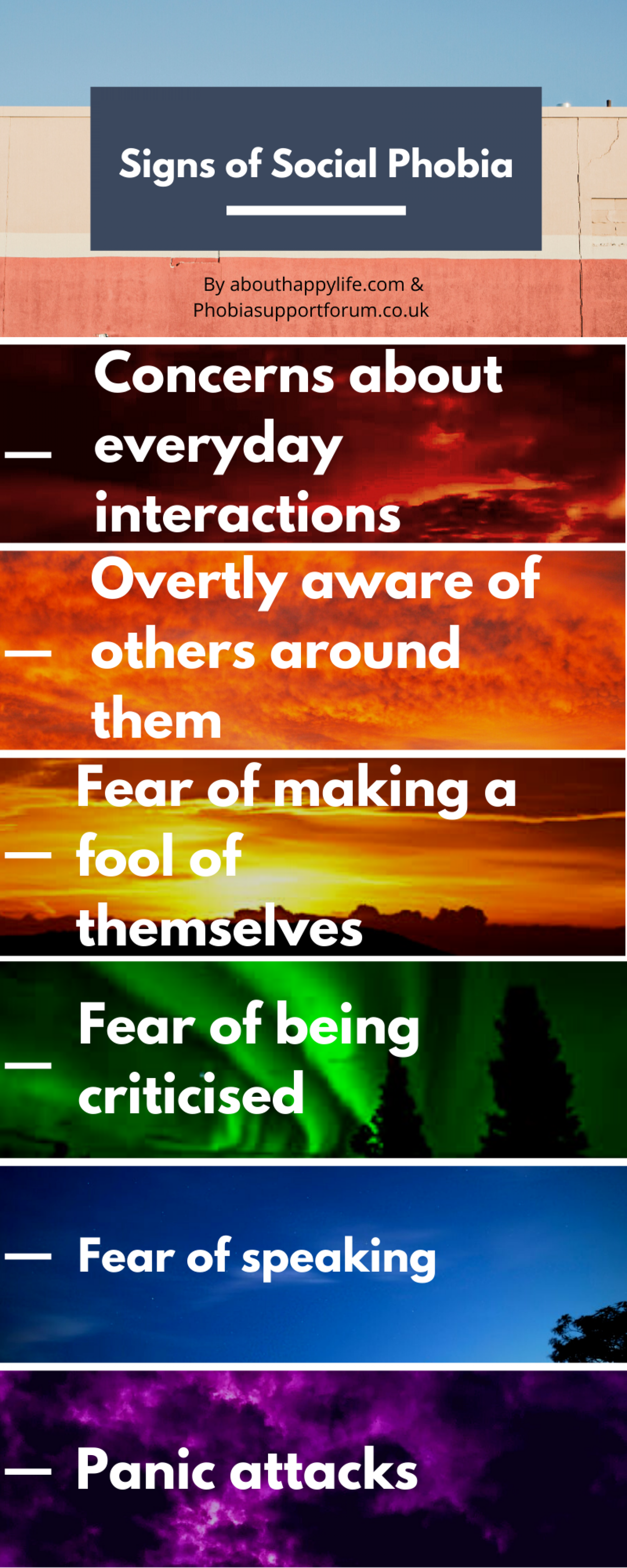 Signs of Social Phobia Infographic