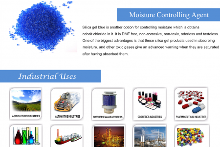 Silica Gel Blue - Chemical That Absorb Moisture Infographic