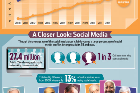 Silver Surfers: Internet Usage among Older Generations Infographic