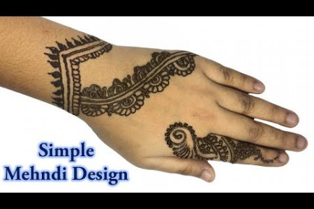 Simple Beautiful Mehndi Designs for Hands | Simple Mehndi Designs Infographic