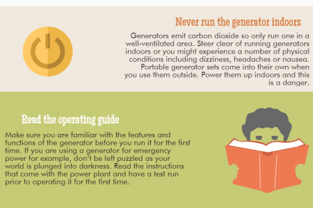 Simple operating advice for portable generators Infographic