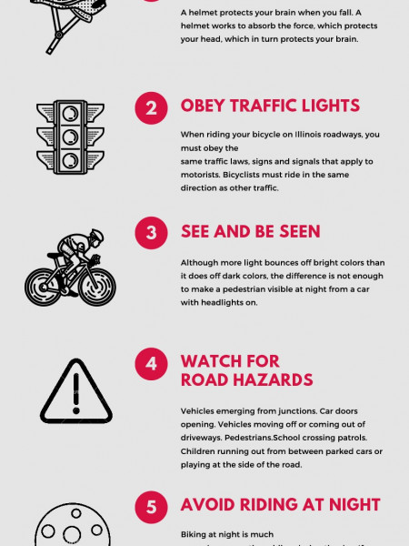 Simple Steps to Bicycle Safety Infographic