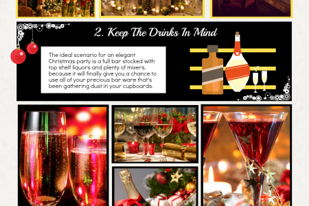 Simple tips for a Christmas Banquet Infographic