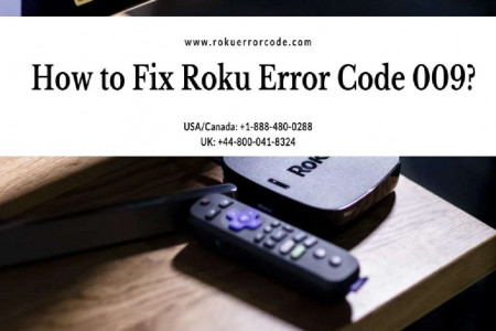 Simple Troubleshooting Guide for Roku Error Code 009 Infographic