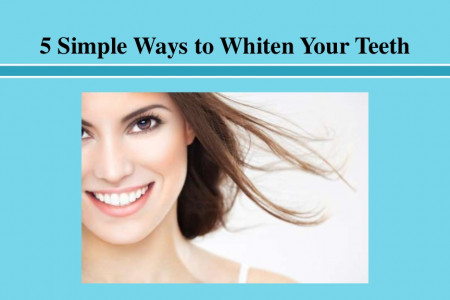 Simple Ways to Whiten Your Teeth Infographic