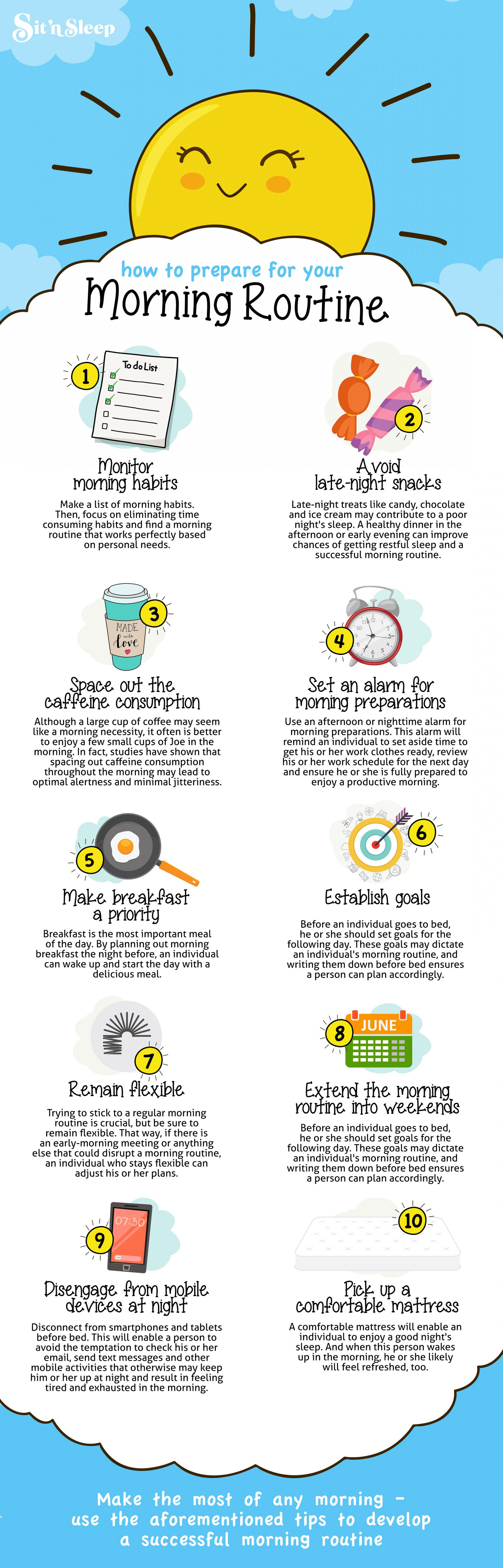 Simplify Your Morning Routine Infographic