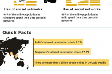 Singapore and India - Online and Loving It Infographic