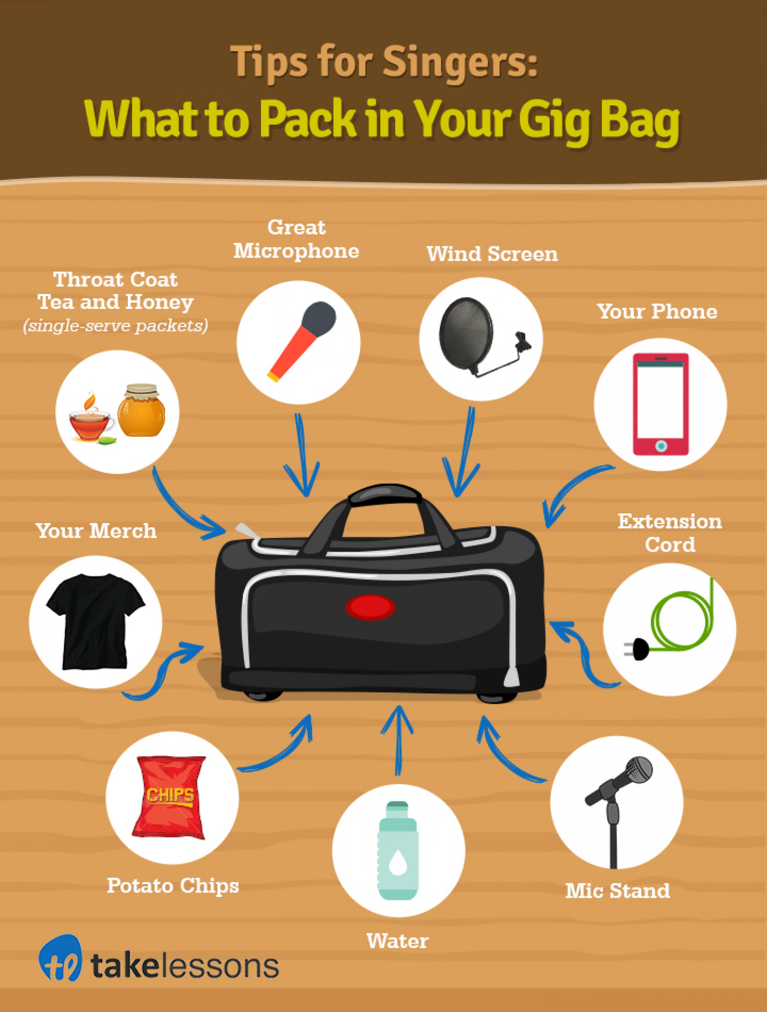 Singers Gig Bag  Infographic