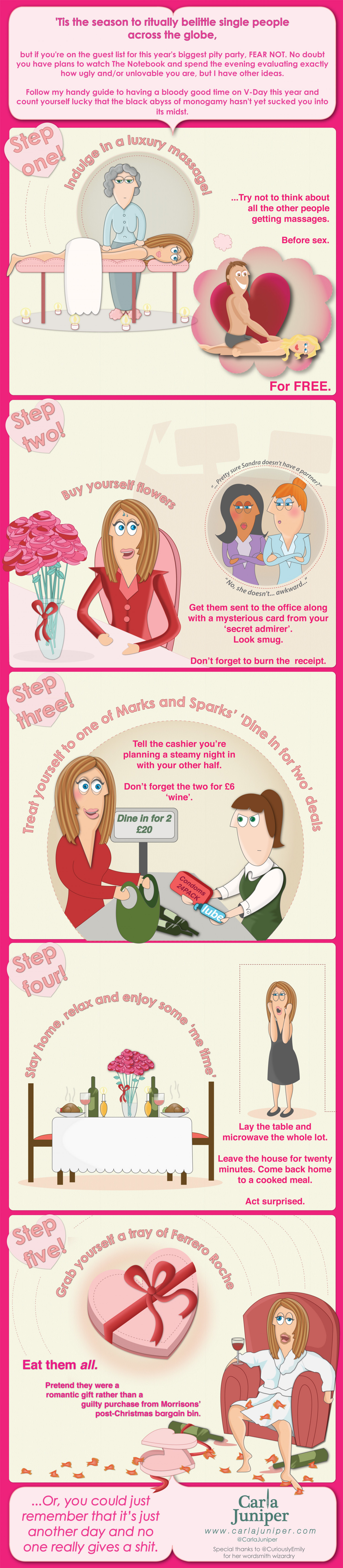 Single on Valentine's day? Infographic