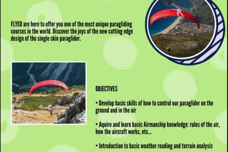 Single Skin Course | Flyeo Paragliding Infographic