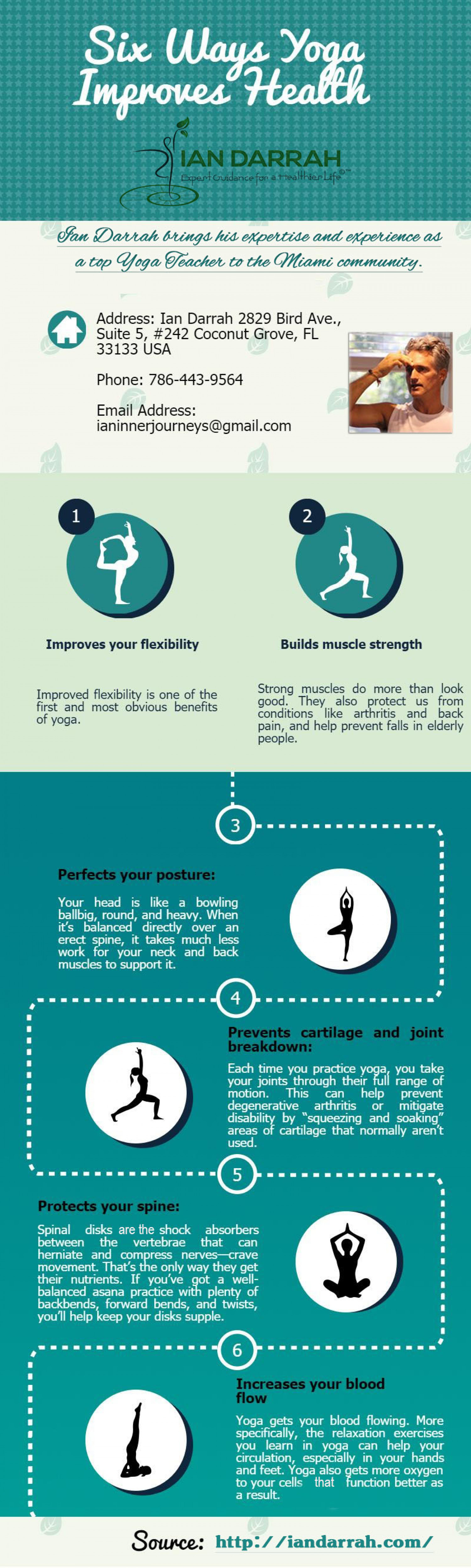 Six Ways Yoga Improves Health Infographic