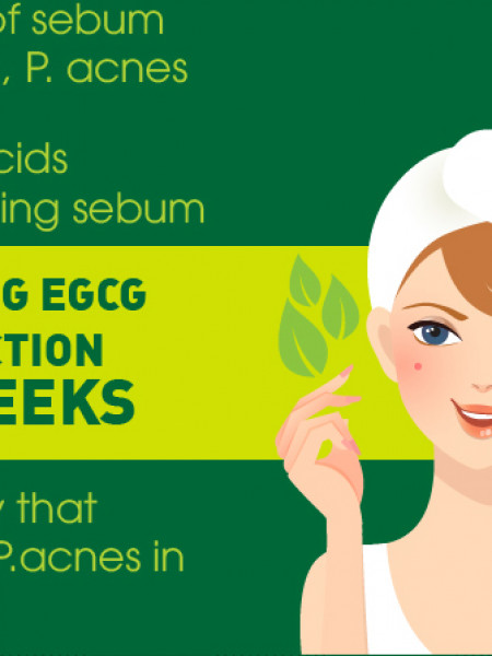 Skin Care with Matcha Green Tea Infographic Infographic