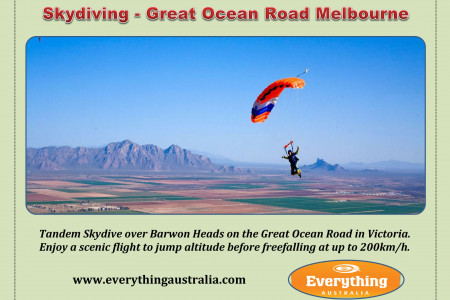 Skydiving - Great Ocean Road Melbourne Infographic