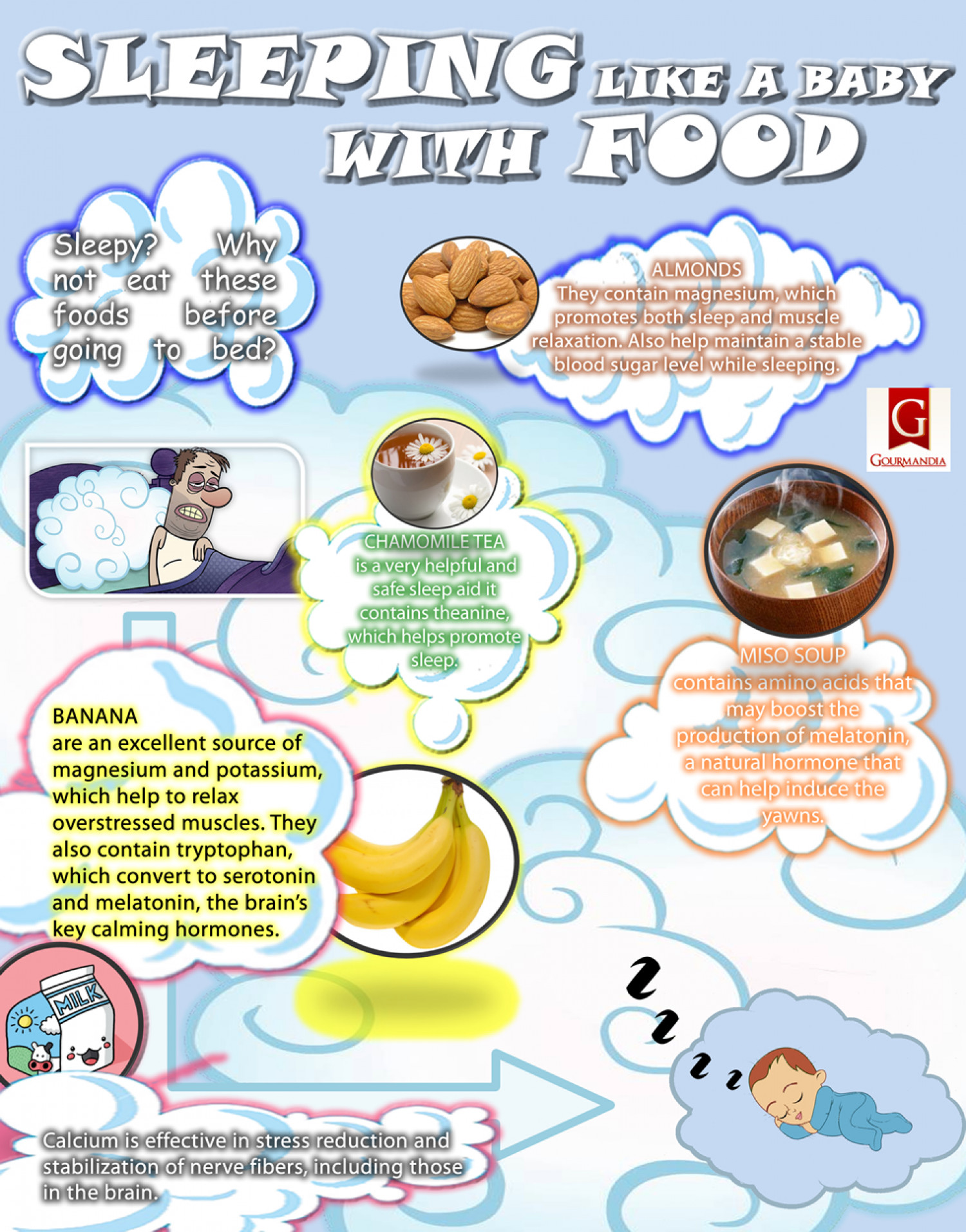 Sleeping Like a Baby with Foods Infographic