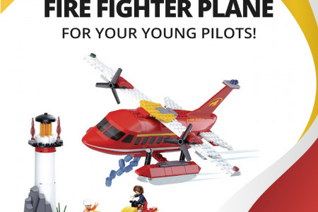 Sluban Fire Fighter Plane - 394 Pieces! Infographic