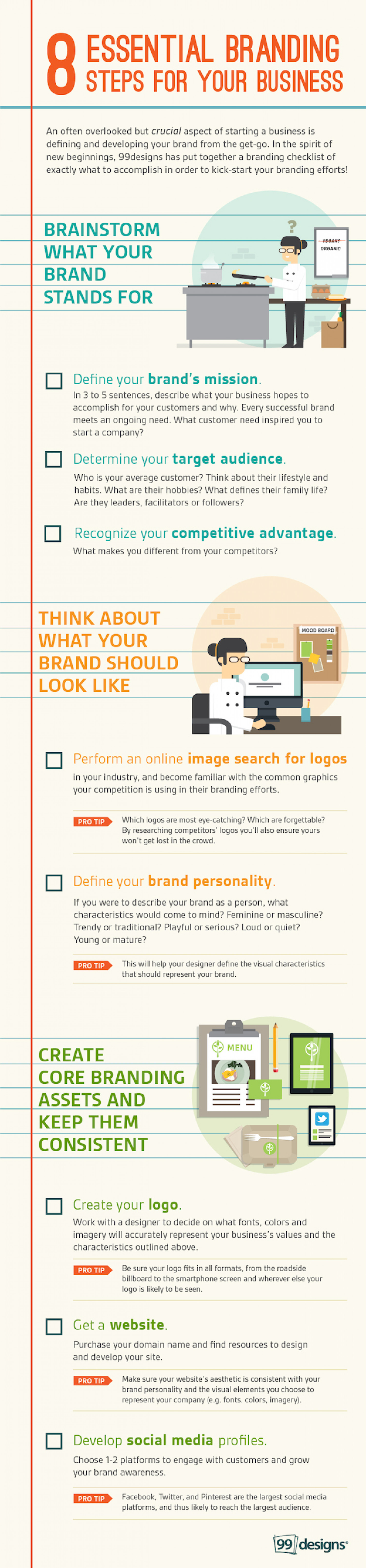 Small Business Branding Checklist Infographic