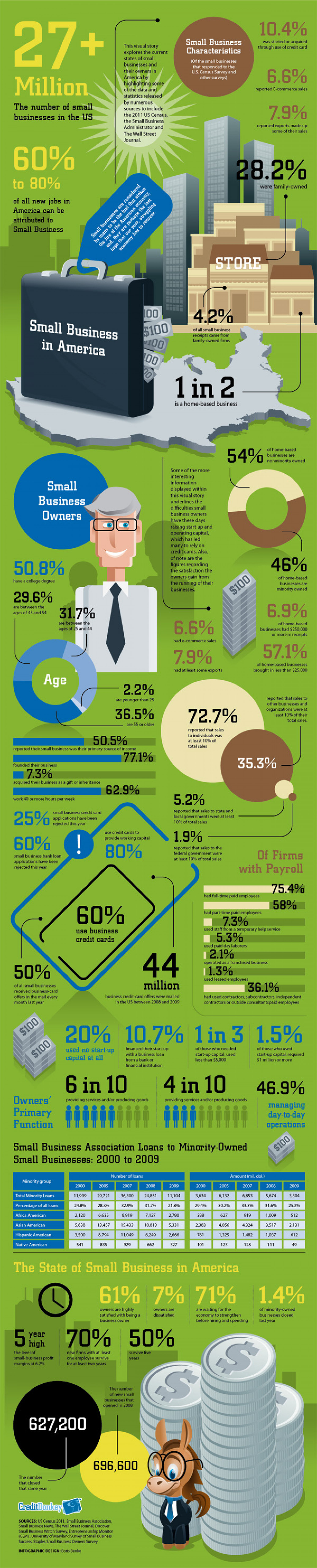 Small Business in America Infographic