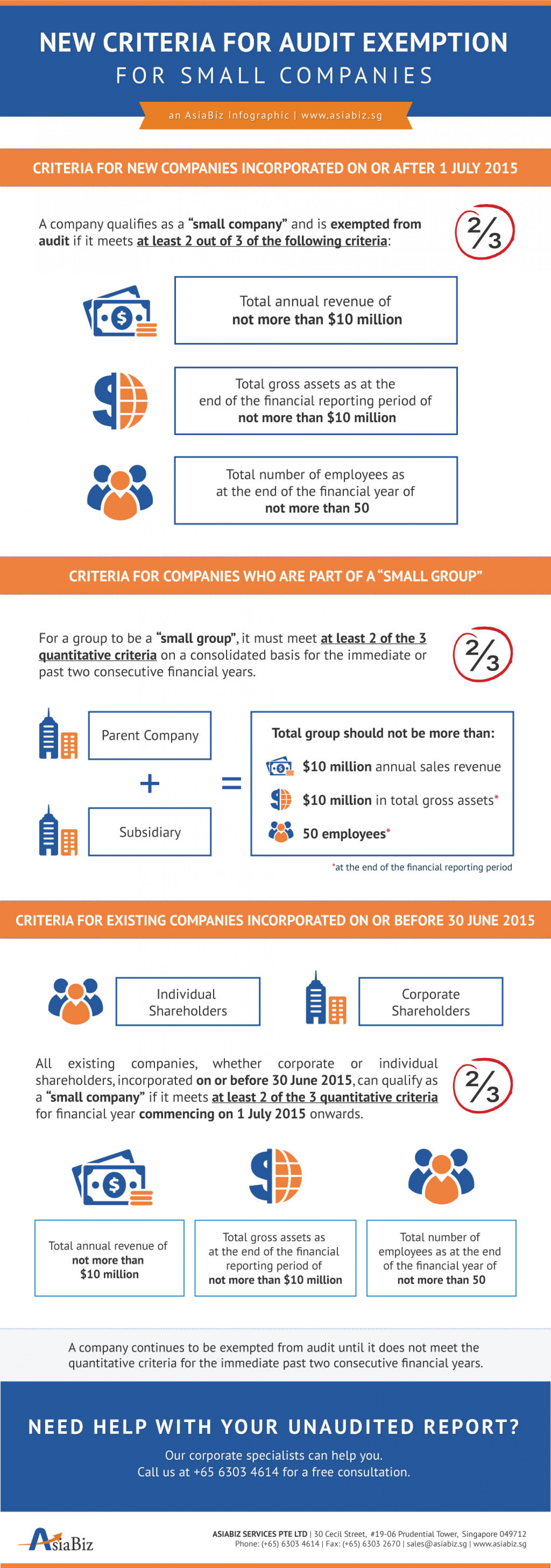"""""""Small Company"""" Concept for Exemption from Statutory Audit Infographic"""