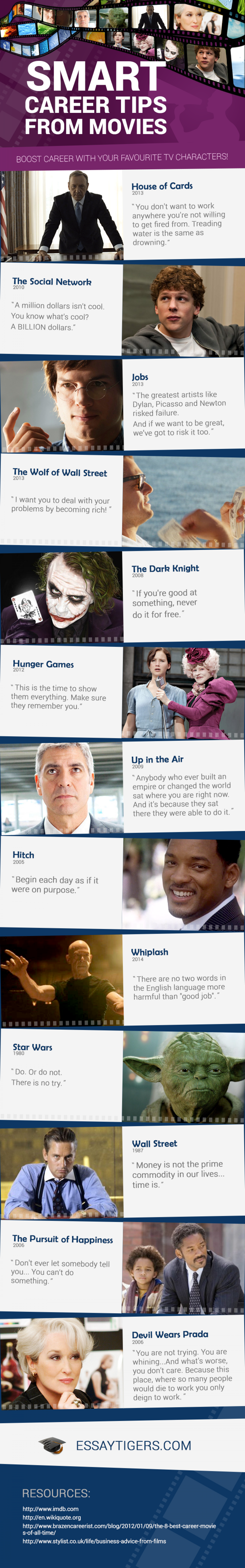 Smart Career Tips from Movies Infographic
