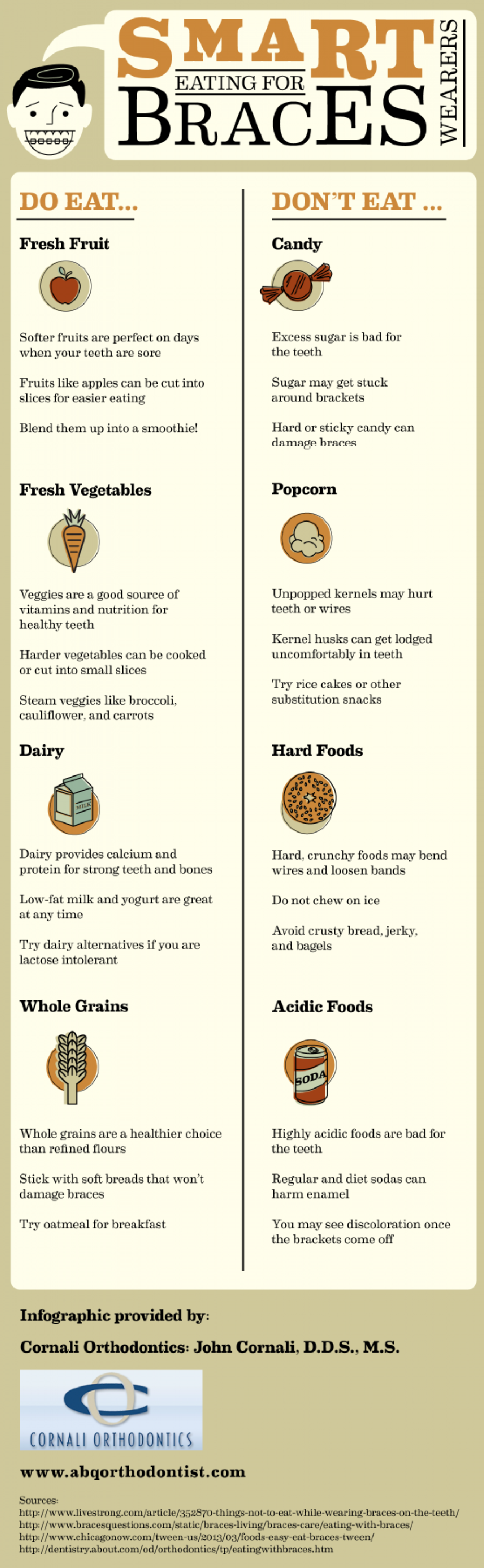 Smart Eating for Braces Wearers Infographic