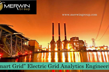 """Smart Grid"" Electric Grid Analytics Engineering - www.merwingroup.com Infographic"