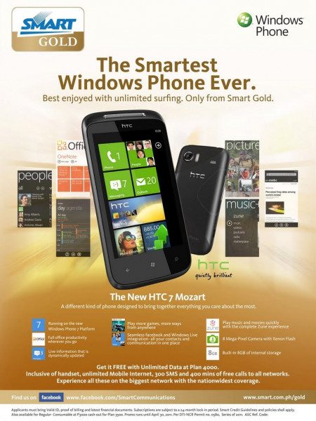 Smart introduces HTC 7 Mozart | COOLBUSTER. Infographic