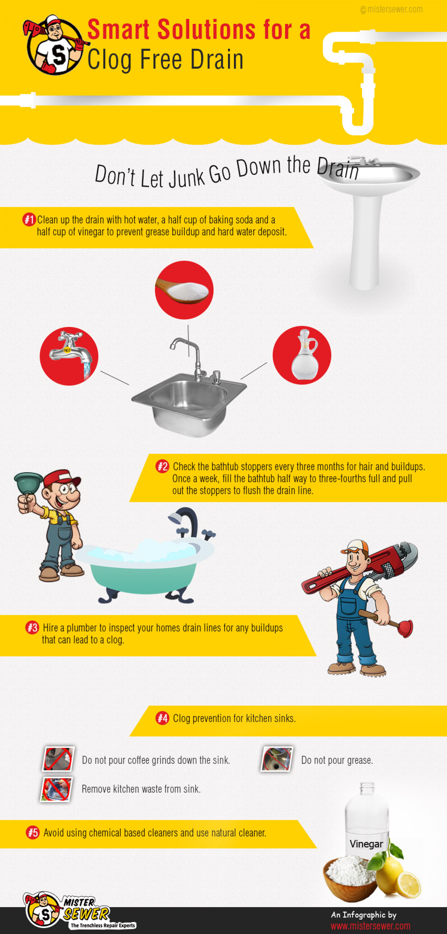 Smart Solutions for a Clog Free Drain  Infographic