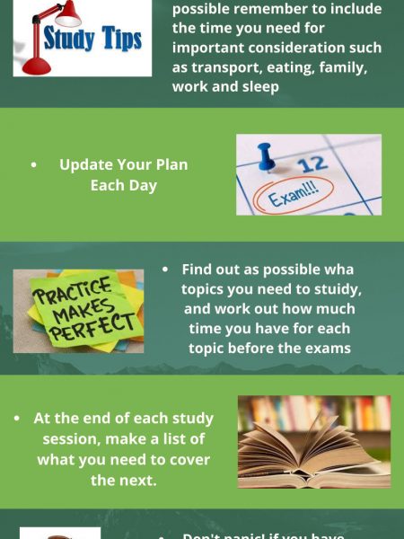 SMART TIPS TO STUDY FOR EXAMS Infographic