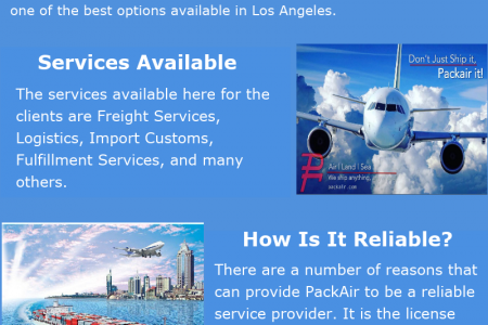 Smoothen The Freight Process With PackAir Infographic