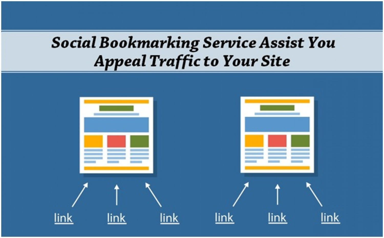 Social Bookmarking Service Assist You Appeal Traffic to Your Site Infographic