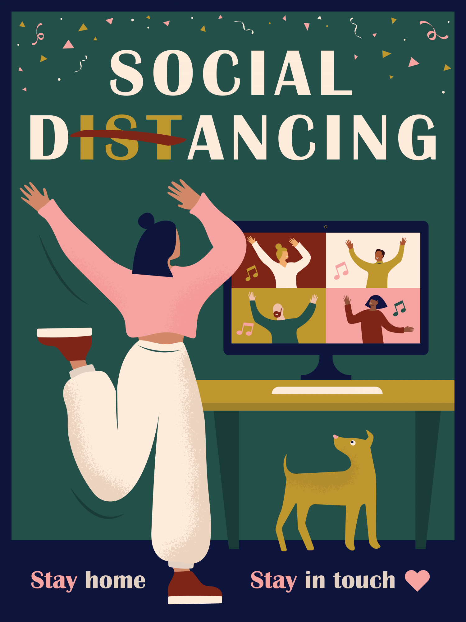 Social Dancing Poster illustration Infographic