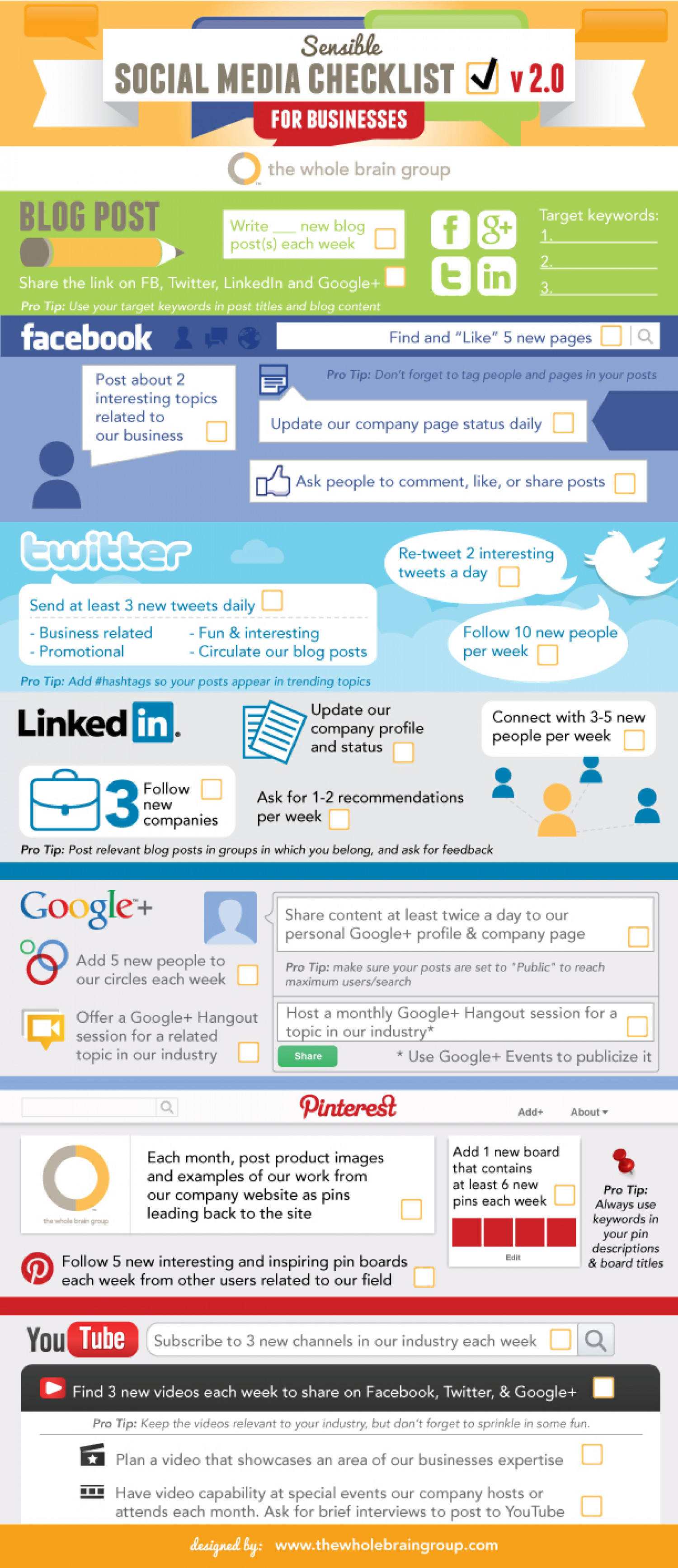 Social Media Checklist For Businesses Infographic